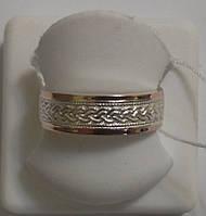 Обручальное кольцо Колос из серебра и золота