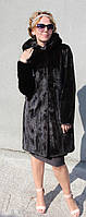 Шуба норковая с капюшоном Модель 200607 46