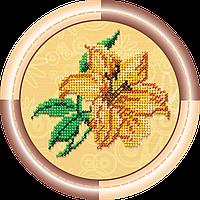 Набор для вышивки бисером на натуральном художественном холсте Лилия