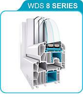 Окна из профильной системы WDS 8 SERIES Запорожье