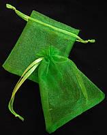 Мешочки органза зеленая 7х9 см. Цена за 1 шт. Производство Украина.