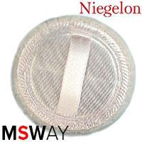 Niegelon Спонж 06-1231 пуховка для пудры круглая велюр 1шт