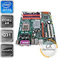 Материнская плата Acer Q35T-AM v.1.0.A (s775/Q31/4xDDR2) б/у