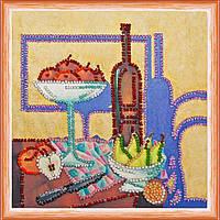 Набор для вышивки бисером на натуральном художественном холсте Кухня-3