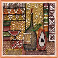 Набор для вышивки бисером на натуральном художественном холсте Кухня-2