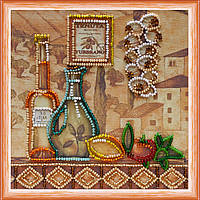 Набор для вышивки бисером на натуральном художественном холсте Специи-1