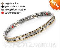Магнитный браслет Змейка голд 4в1