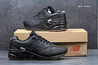 Мужские кроссовки  New Balance 999  черные, синие, пресс кожа