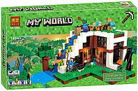 Конструктор Bela 10624 Майнкрафт База на водопаде (аналог Lego Minecraft 21134)