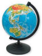 """Глобус земли с физический """"1 Вересня"""" 160 мм."""
