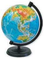 """Глобус земли с физический """"1 Вересня"""" 220 мм."""