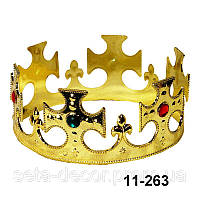 """Корона  """"Царская""""  пластик, карнавальная"""
