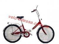 Складной велосипед дорожный с фарой 24 дюйма