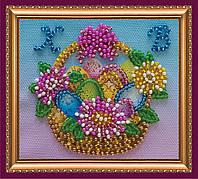 Набор для вышивки бисером «Магнит» Пасхальная корзинка-1