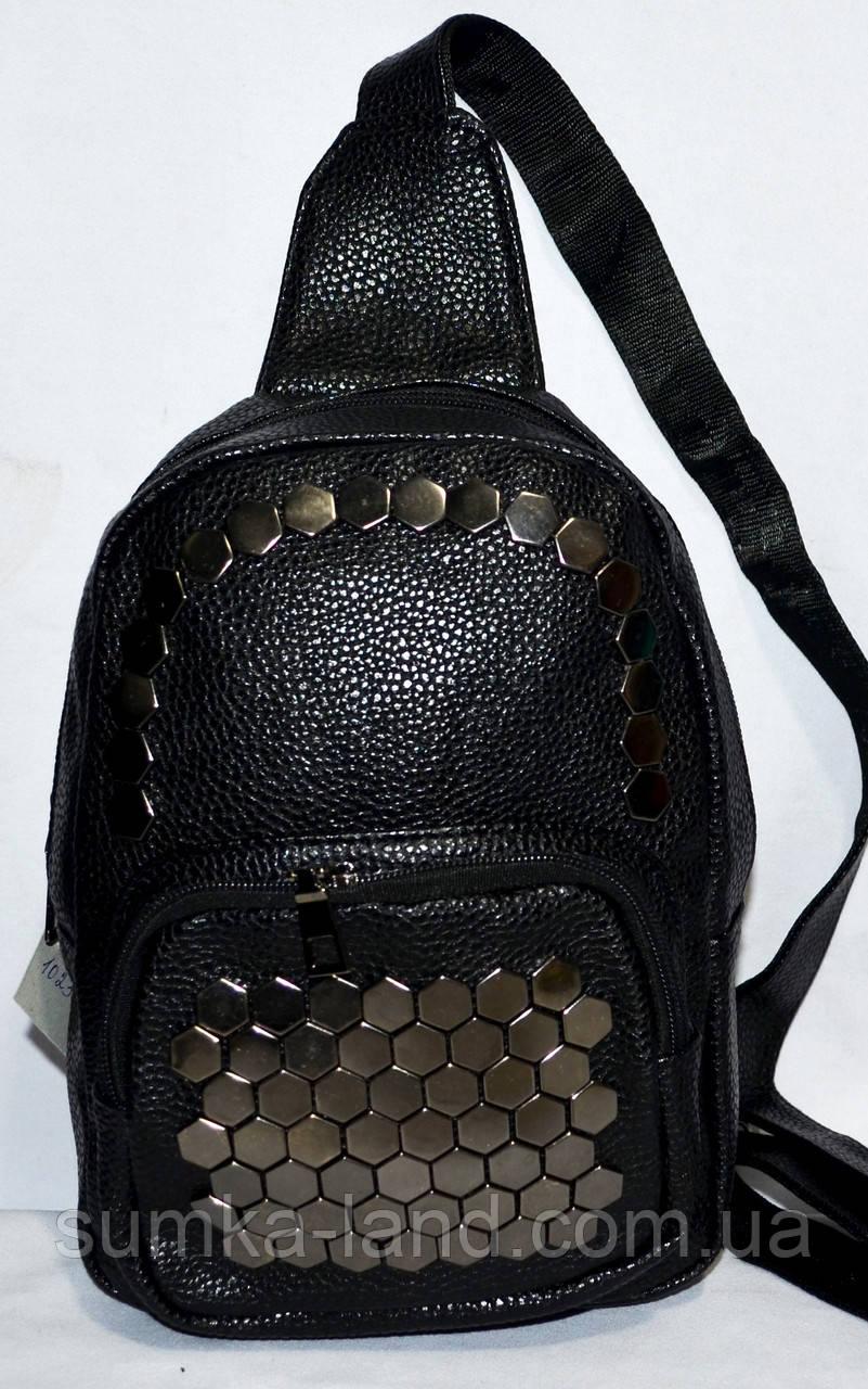 c2f9d3ceb1c1 Женский городской рюкзак на плечо (черный), цена 183 грн., купить в ...