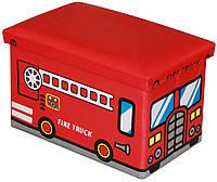 Ящик - пуфик для игрушек Happy Bus