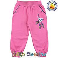 Розовые спортивные штаны с начёсом для девочек Размеры: 104-110-116 см (5535-4)