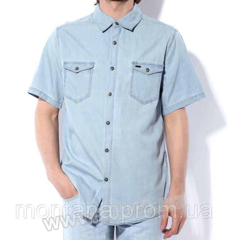 Джинсовая рубашка Montana светло-голубая