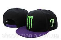 Кепка с прямым козырьком Monster Energy black-violet