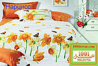Двуспальное постельное бельё Viluta (Вилюта) ранфорс, Нарцисс
