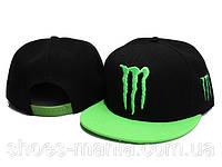 Кепка с прямым козырьком Monster Energy black-green