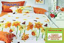 Евро двуспальное постельное бельё Viluta (Вилюта) ранфорс, Нарцисс