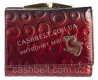 Маленький элитный женский кожаный лаковый кошелек высокого качества art. СD-78043A красный