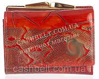 Маленький элитный женский кожаный лаковый кошелек высокого качества art. СD-9503A красный