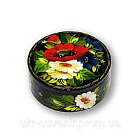 Шкатулки декоративные цветочные круглые