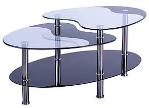 Стол журнальный Алегро B58 закаленное стекло, фото 2