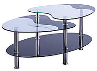 Стол журнальный Алегро B58 закаленное стекло