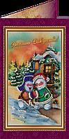 Набор для вышивки бисером «Открытка» Веселого Рождества-1
