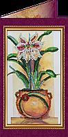 Набор для вышивки бисером «Открытка» Цветы в подарок-1