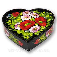 Шкатулка расписанная вручную (сердце), фото 1