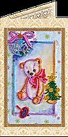 Набор для вышивки бисером «Открытка» Мишка Тедди-3