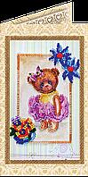 Набор для вышивки бисером «Открытка» Мишка Тедди-5