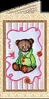 Набор для вышивки бисером «Открытка» Мишка Тедди-6