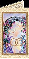 Набор для вышивки бисером «Открытка» С днем бракосочетания-3