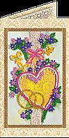 Набор для вышивки бисером «Открытка» С днем бракосочетания-4