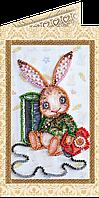 Набор для вышивки бисером «Открытка» Зайка Тедди-1