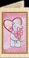 Набор для вышивки бисером «Открытка» С любовью-3