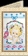Набор для вышивки бисером «Открытка» Ангелочек