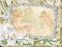 """Набор для вышивки бисером на натуральном художественном холсте фоторамка """"Нежные лилии"""""""