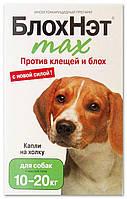БлохНэт max капли против клещей и блох для собак от 10 до 20 кг, Астрафарм