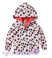 Gymboree Куртка на девочку на флисе, Leopard