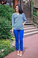 Изящная летняя женская блуза свободного кроя
