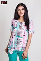 Очаровательная женская блузка с  короткими рукавами