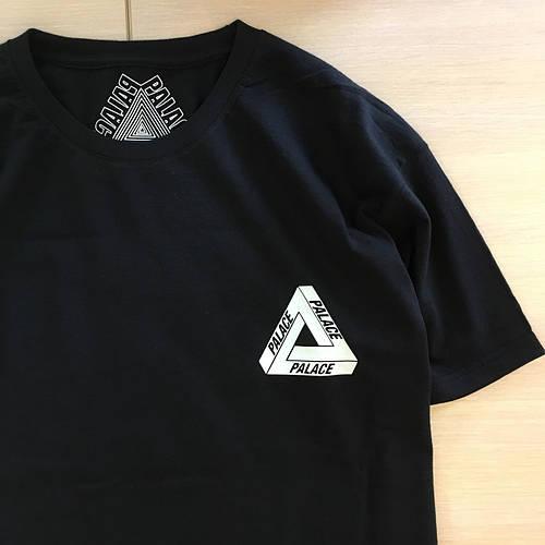 Футболка черная Palace logo tringle