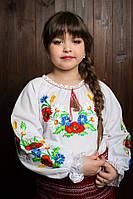 Симпатичная детская вышитая блузка с длинным рукавом