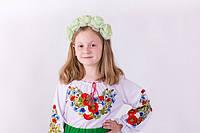 Модная  блузка вышиванка  для девочки  с очень красивой вышивкой